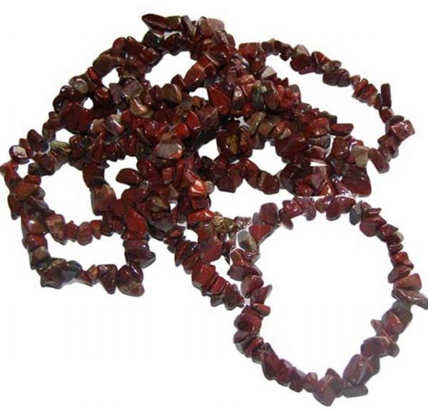 BRECCIATED JASPER  Crystal Chip Gemstone Bracelet